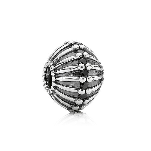 2018 Pandora Abscritique  XL Silver Charm With Black Cubic Zirconia 790870CZK