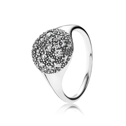 2018 Pandora Cosmic Stars Statement Ring 190914CZ