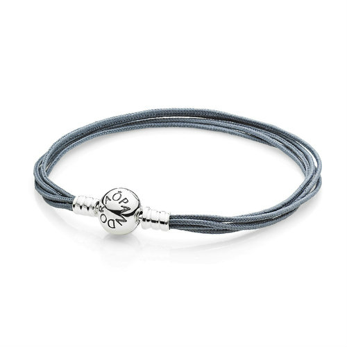 2018 Pandora Grey Multicable  Bracelet 590715CGY